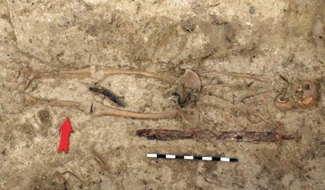 Badger digs up medieval warrior graves