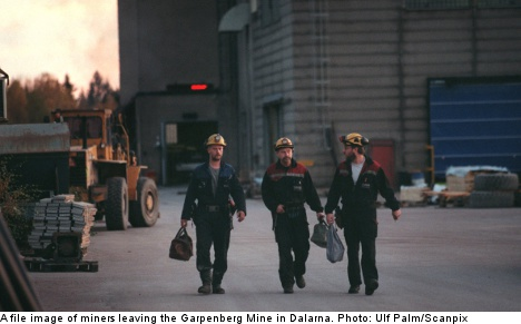 Four Swedish miners saved from burning mine