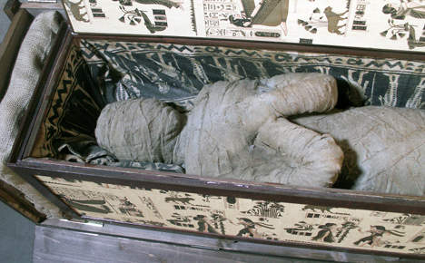 Boy finds grandfather's 'mummy' hidden in attic