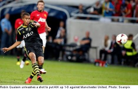 Stockholm's AIK holds Man U to 1-1 draw