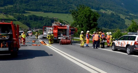 Three die as car catches fire in head-on collision