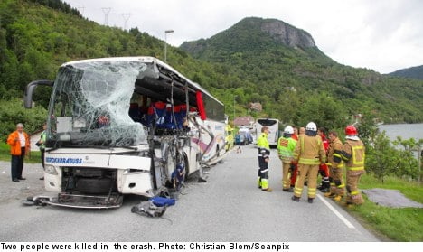 Two dead after Swedish bus crash in Norway