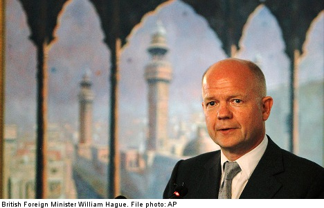 Hague cancels Sweden visit for Syria crisis