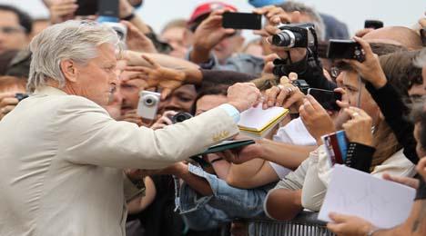 Michael Douglas stars at French film festival