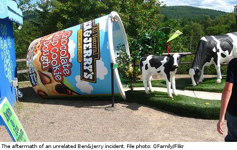 Thieves' Ben & Jerry's loot melts mid-heist