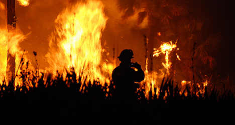 Wildfires rage in Sardinia