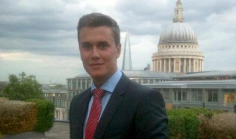 Tributes paid to German intern at London bank