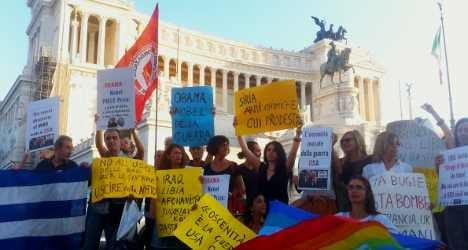 Italians fight against 'imperialist' war in Syria