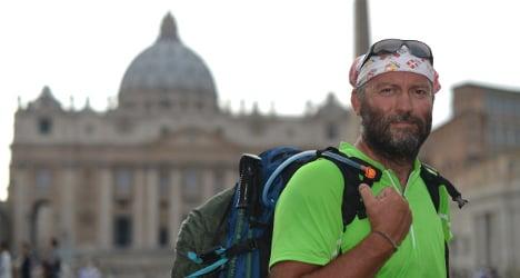 Pilgrim priest treks to Rome to plead with Pope