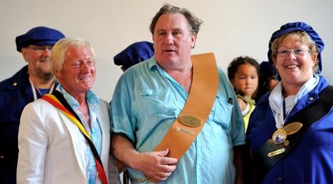 Depardieu hosts garden bash in Belgian tax haven
