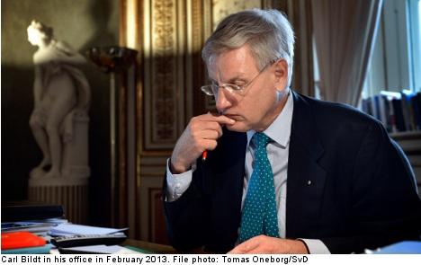 Bildt: Assad regime behind Syria gas attack
