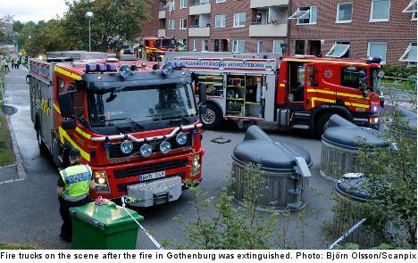 Fire hits Gothenburg flats: 'It was like a bomb'