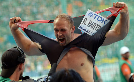 Robert Harting takes third world discus title
