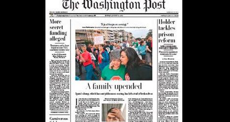 Washington Post lays bare Spain's woes