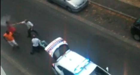 'He bit me!': New video emerges of violent arrest