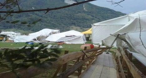 Man killed by falling tree amid Swiss storm havoc
