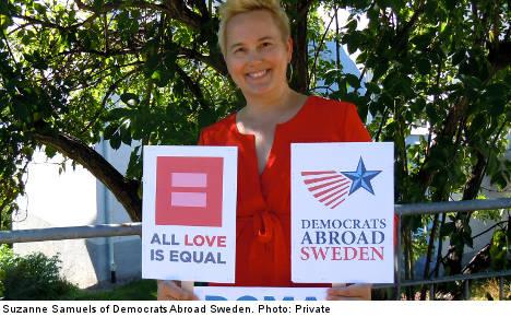 Pro-LGBT Americans join Stockholm Pride