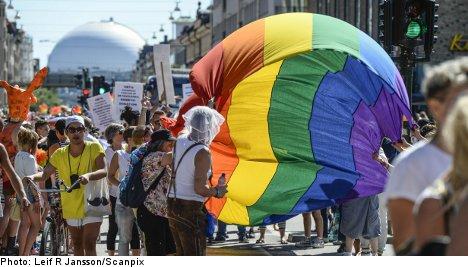 Huge crowds pack Stockholm for Pride