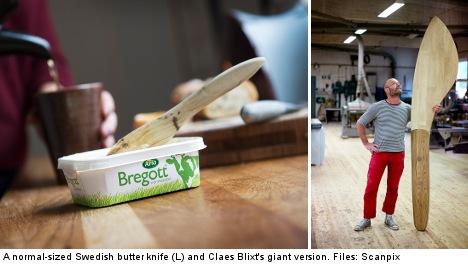 Teacher spreads word of giant butter knife