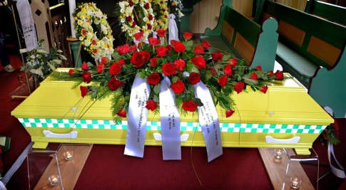 Norway paramedic buried in ambulance coffin
