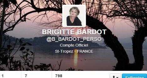 Brigitte Bardot fires off first tweet in anger