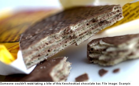 Banned substance found in Swedish candy bars