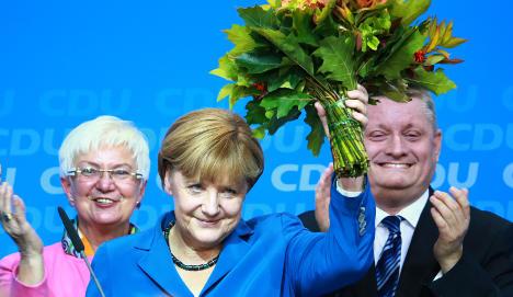 Merkel hails 'superb' election result