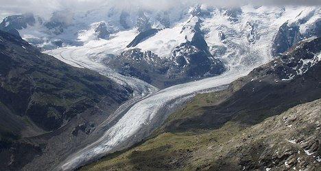 Shrinking Swiss glacier highlights warming trend