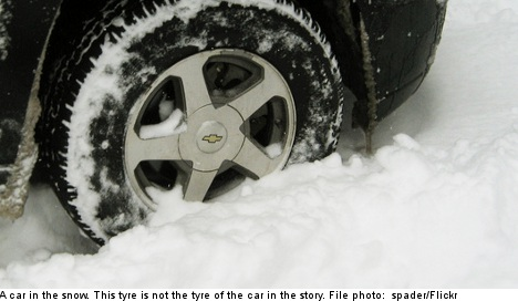Cold snap on the way after first snow accident