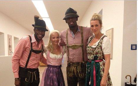 Usain Bolt celebrates Puma deal at Oktoberfest
