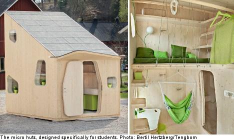 Micro huts to house Swedish students