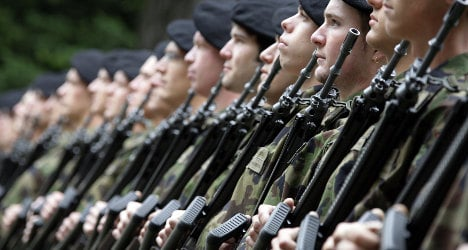 Swiss army trains for French invasion