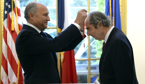 US novelist Philip Roth receives French honour