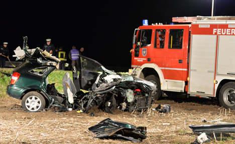 Boy survives crash, mum and grandparents die
