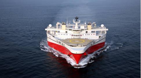 'World's ugliest ship' docks in Norway