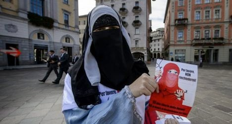 Ticino voters back ban on wearing face veils