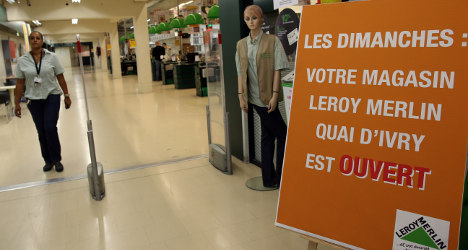 France to review Sunday shopping laws amid row