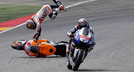 Marquez apologizes after 'aggressive' MotoGP win