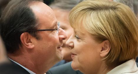 Hollande congratulates Merkel on election win