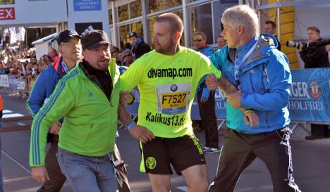 Police charge Berlin marathon intruder