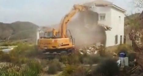 Home demolition video sparks expat outrage