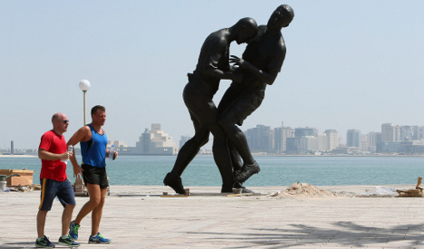 Qatar removes Zidane statue after outcry