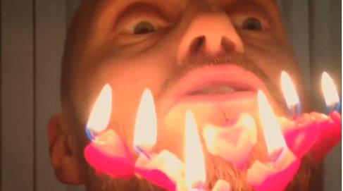 VIDEO: Norway star sets beard alight on birthday
