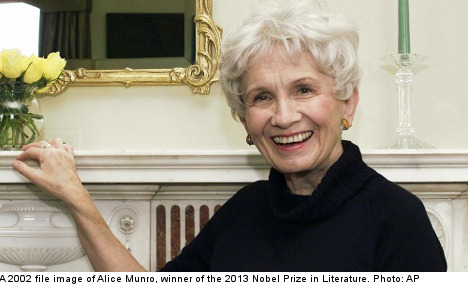 Alice Munro wins 2013 Nobel Prize in Literature