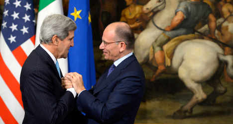 Kerry meets Italian PM amid furore over spying