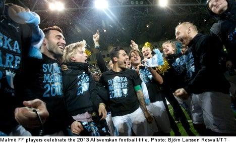 Malmö clinch Sweden's Allsvenskan football title