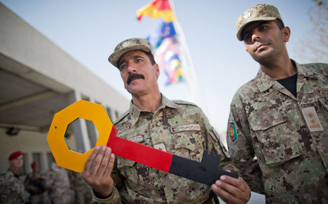 Germany hands Kunduz camp to Afghan security