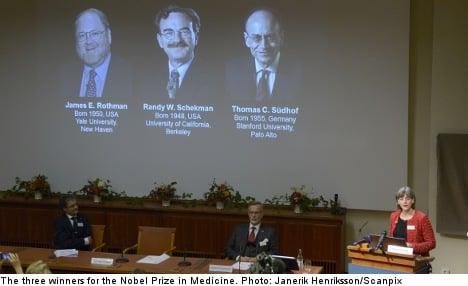 'Cell transport research' gets Nobel Medicine nod