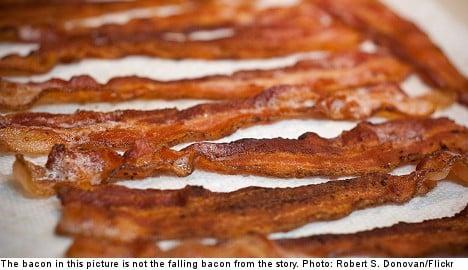 Man injured by half-tonne of falling bacon