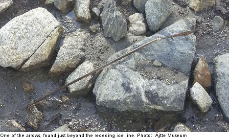 Arrows frozen for 1,000 years found in Sweden